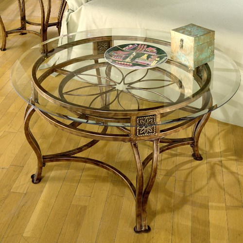 Hillsdale Occasional Tables Scottsdale Cocktail Table with Flower Motif