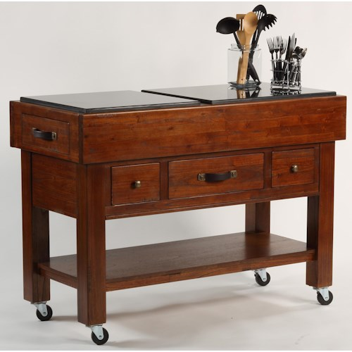 Hillsdale Outback Serving Table w/ Casters