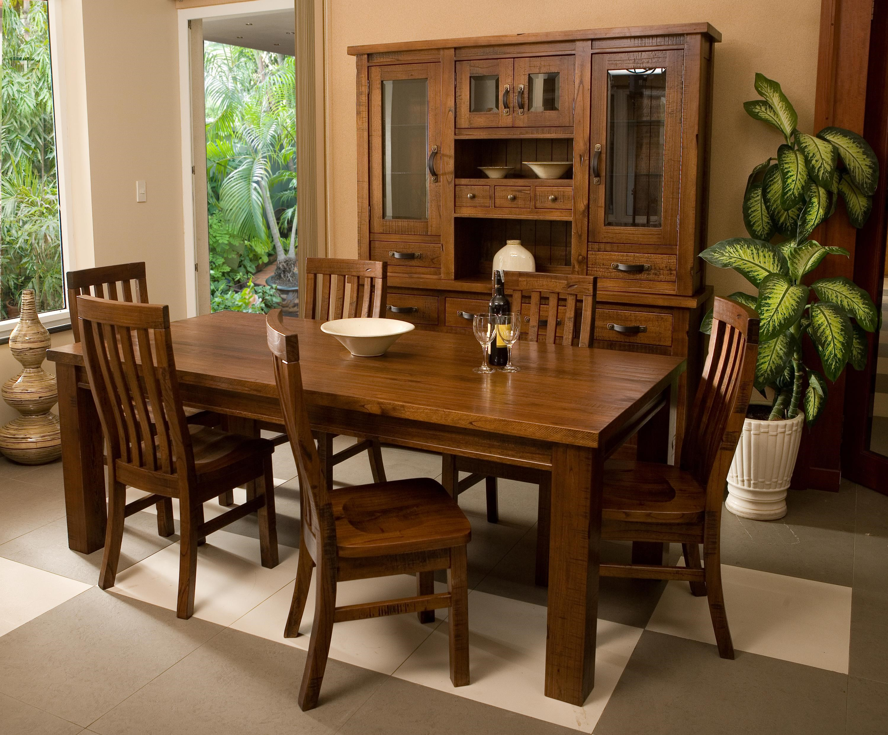 Outback Mission Style Seven Piece Dining Set By Hillsdale
