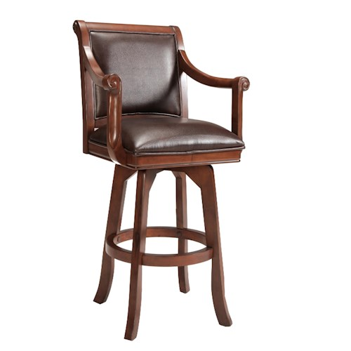 Hillsdale Palm Spring Counter Stool with Rolled Arms
