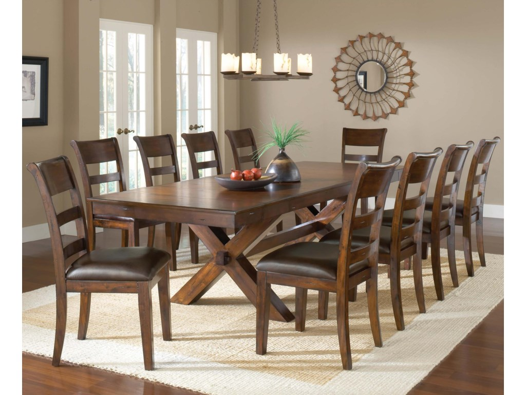 Shown in Room Setting with Trestle Table
