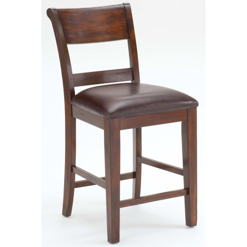 Hillsdale Park Avenue Non-Swivel Counter Stool w/ Upholstered Seat