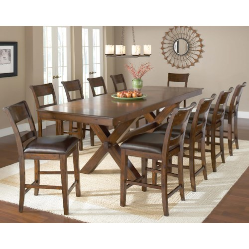 Hillsdale Park Avenue 11 Piece Pub Table and Stool Set