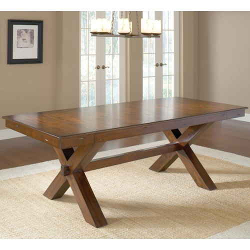 Hillsdale Park Avenue Trestle Dining Table w/ 2 Leaves