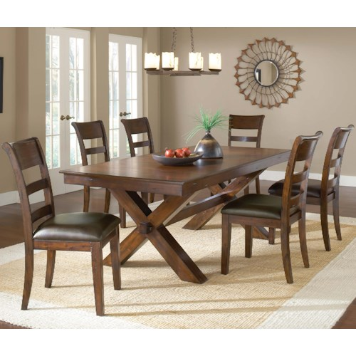 Hillsdale Park Avenue 7 Piece Trestle Table and Chair Set