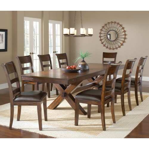 Hillsdale Park Avenue 9 Piece Trestle Table and Chair Set