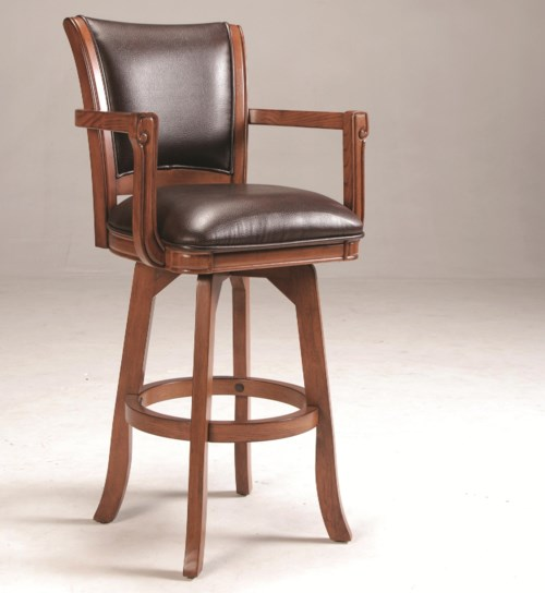 Hillsdale Park View Upholstered Swivel Bar Stool A1