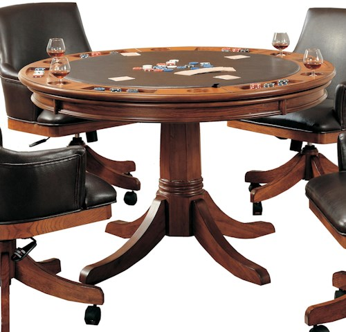 Hillsdale Park View Round Flip Top Gaming/Dining Table