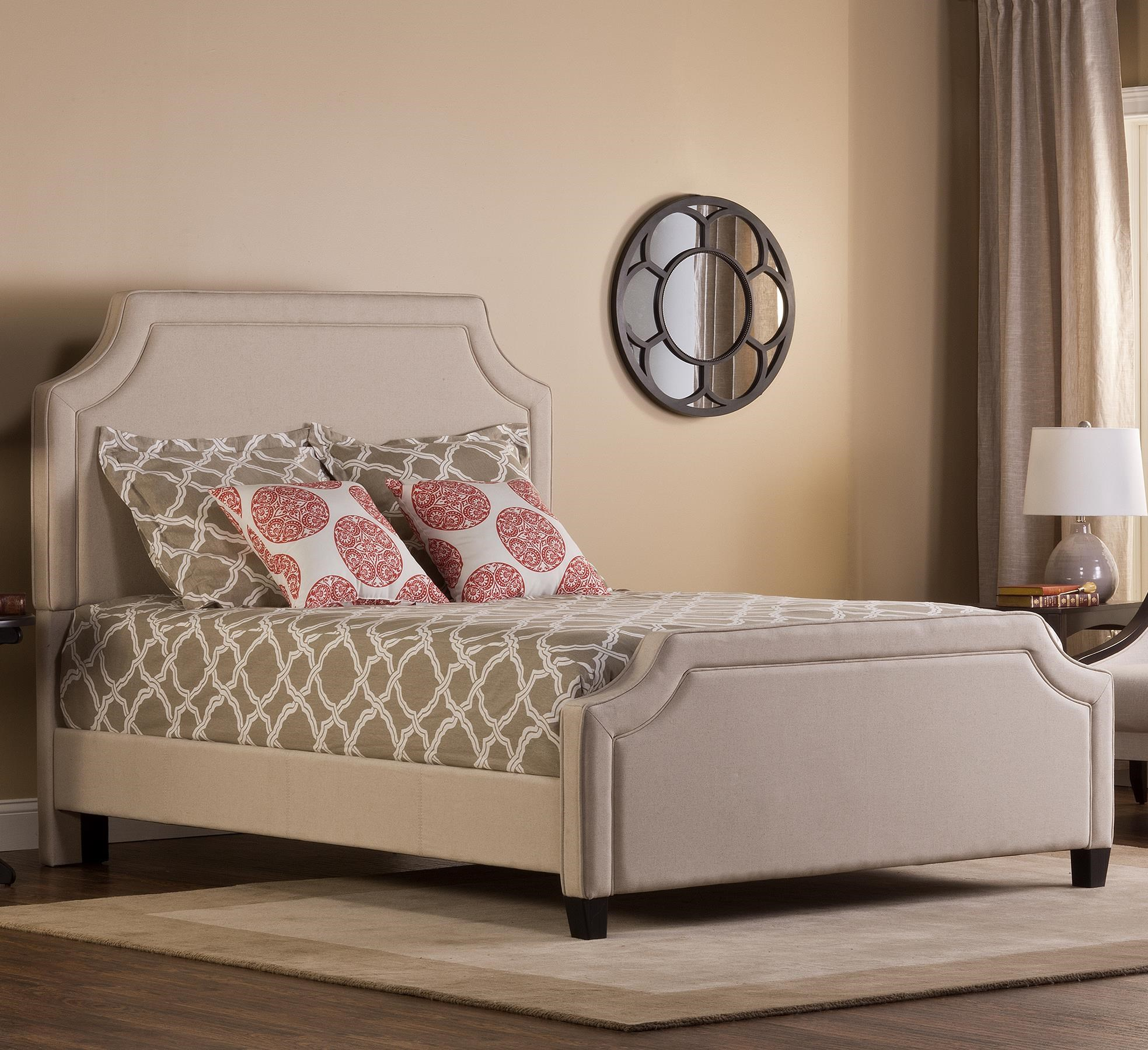 hillsdale parker upholstered queen bed set with rails