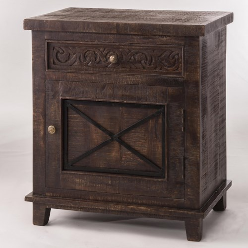 Hillsdale Pavia Sophisticated Cabinet with X Front Drawer