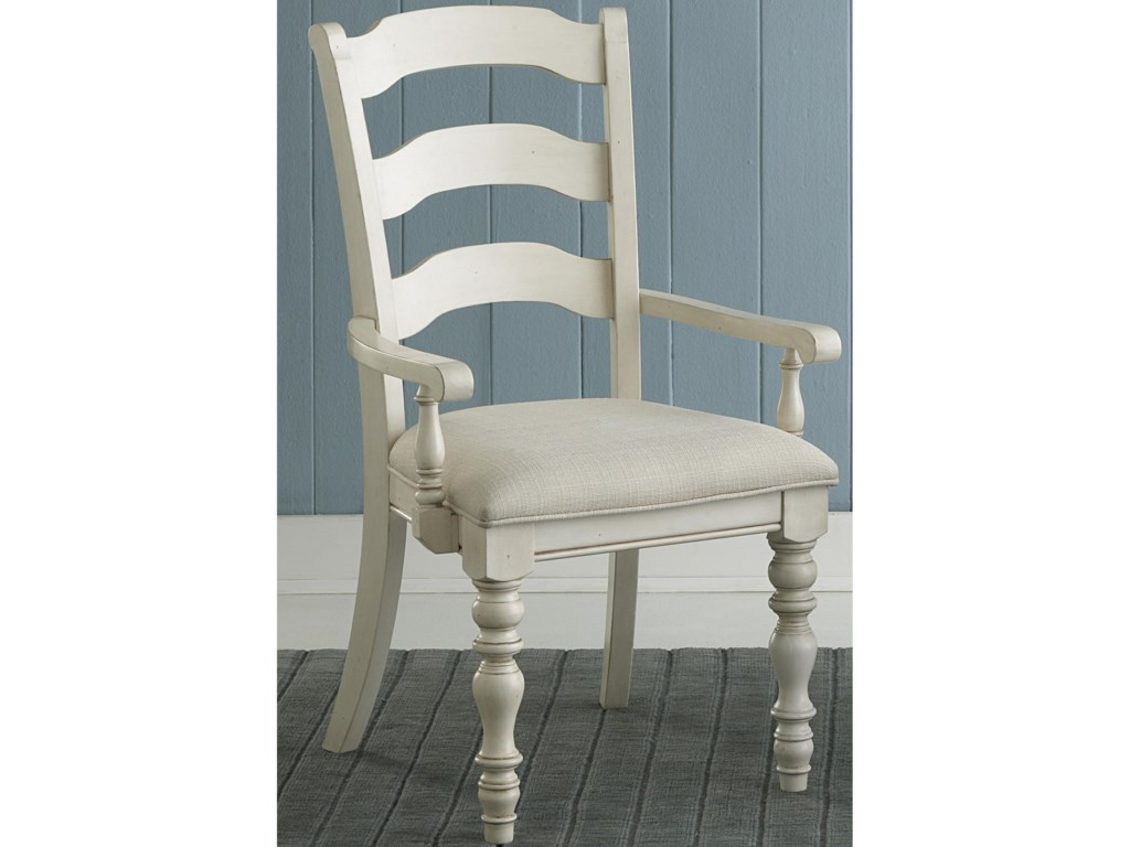 Hillsdale Pine IslandDining Ladder Back Arm Chairs