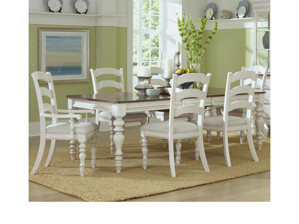 Hillsdale Pine IslandDining Table and Chair Set