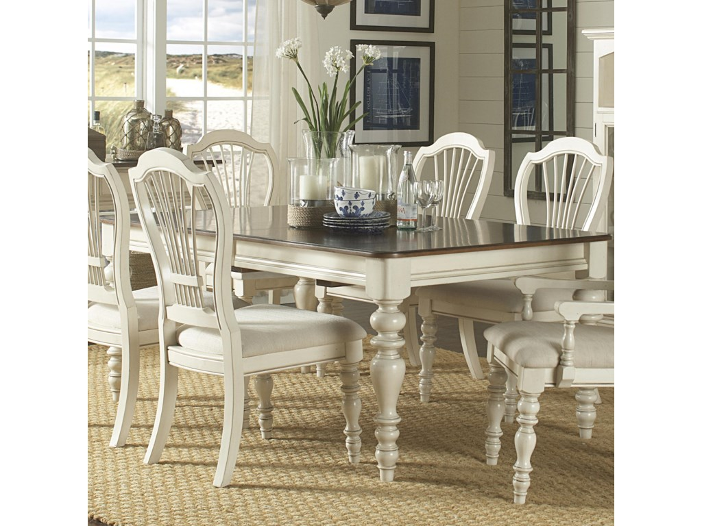 Hillsdale Pine Island Dining Table With Turned Legs