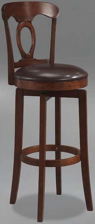 Hillsdale Plainview Corsica Swivel Barstool with Round Seat