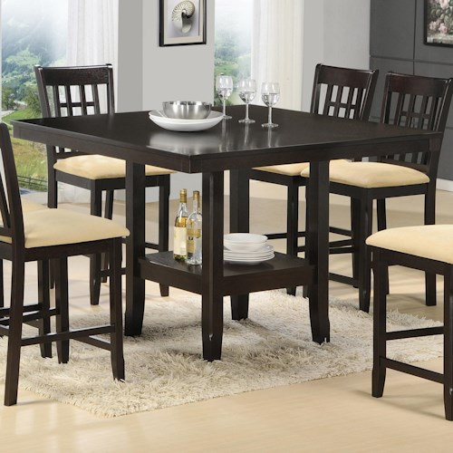 Tabacon counter height gathering table with wine rack for B m dining room furniture