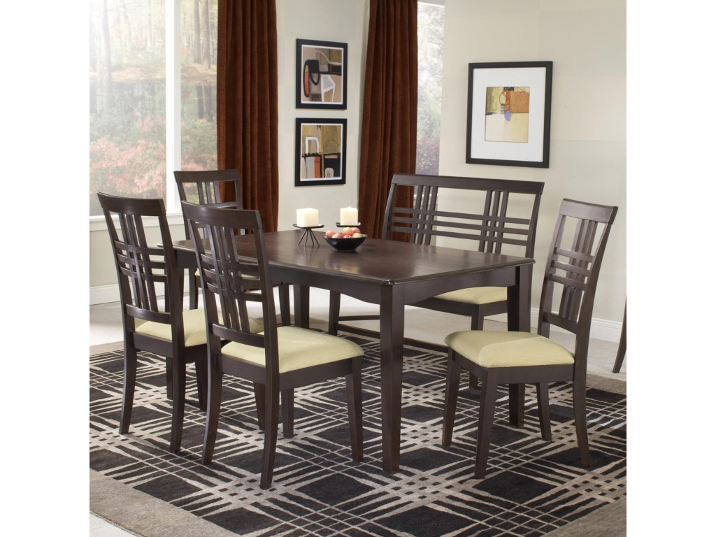 Shown with Side Chairs and Bench
