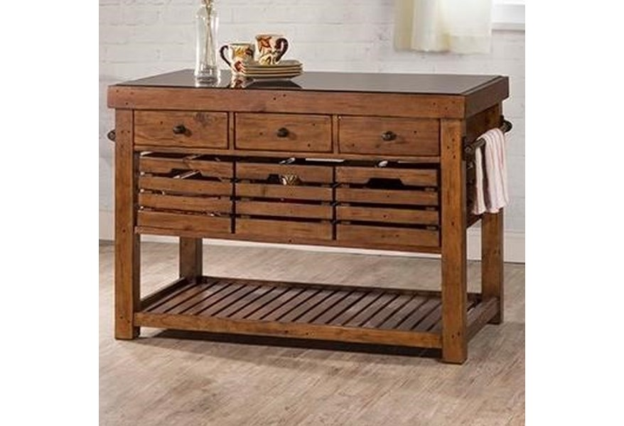 Hillsdale Tuscan Retreat 5225 1019w Rustic Kitchen Island With