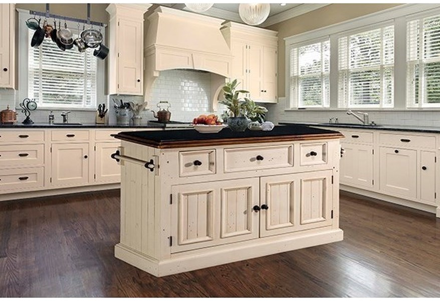 Hillsdale Tuscan Retreat White 1351894 Dining Server W Granite Top Dunk Bright Furniture Kitchen Islands