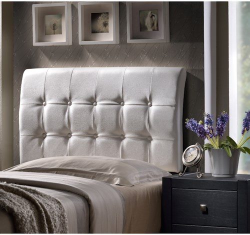 Hillsdale Upholstered Beds Lusso Full Headboard with Rails and Tufting