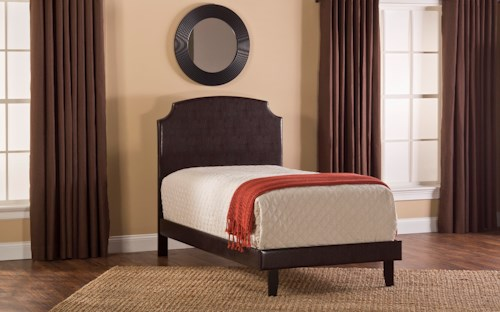 Hillsdale Upholstered Beds Lawler King Headboard Set with Scooped Edges