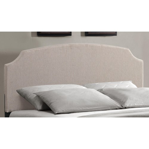 Hillsdale Upholstered Beds Lawler King Headboard with Rails and Scooped Edges