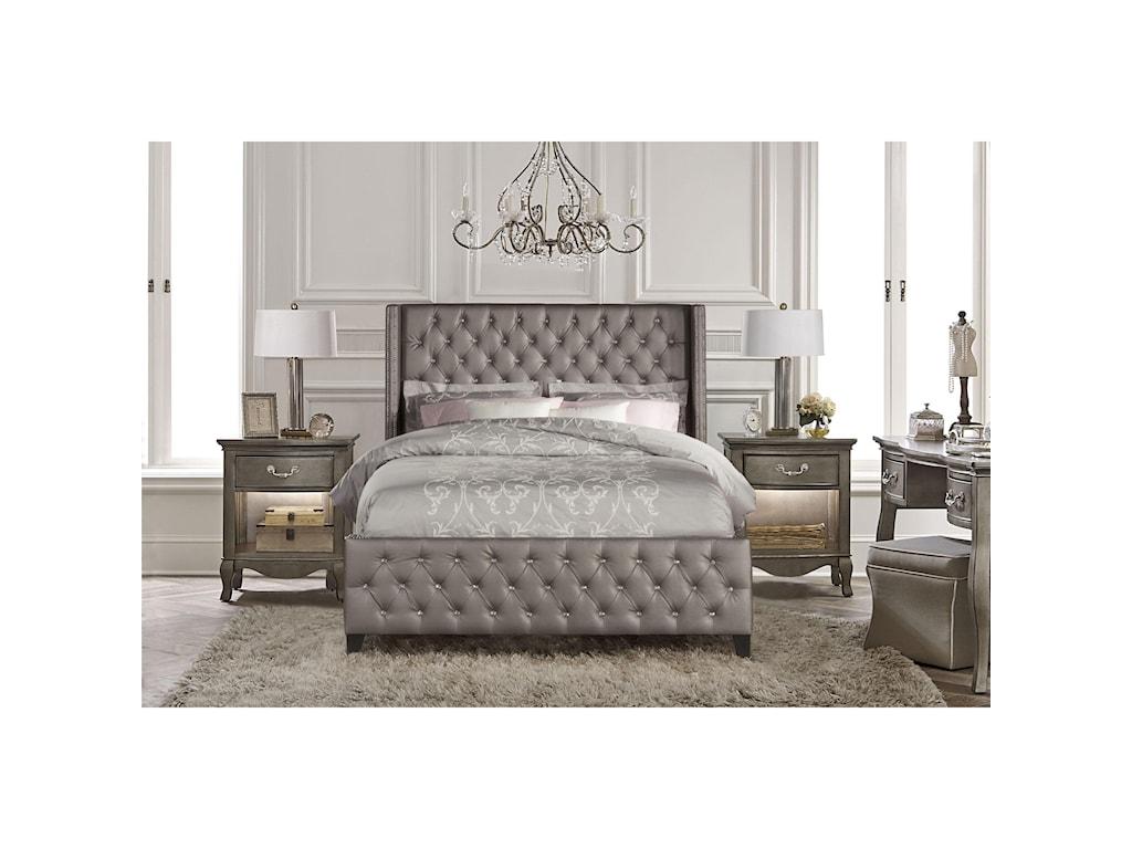 upholstered bedroom sets.  Hillsdale Upholstered BedsQueen Bed Set with Rails Beds 1886BQR Queen Dunk