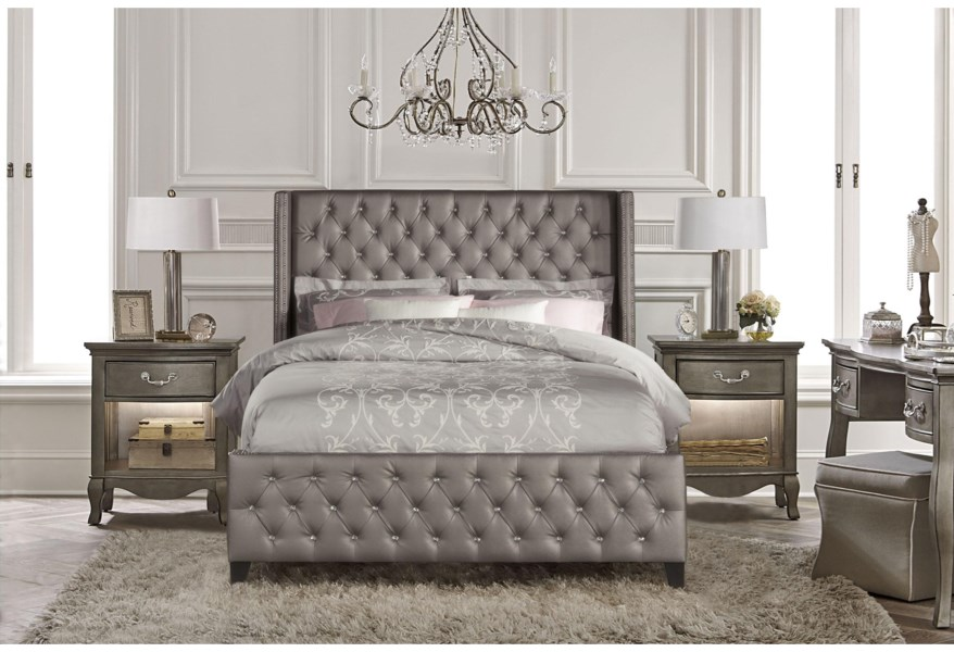 Hillsdale Upholstered Beds 1886bqr Queen Bed Set With Rails Dunk