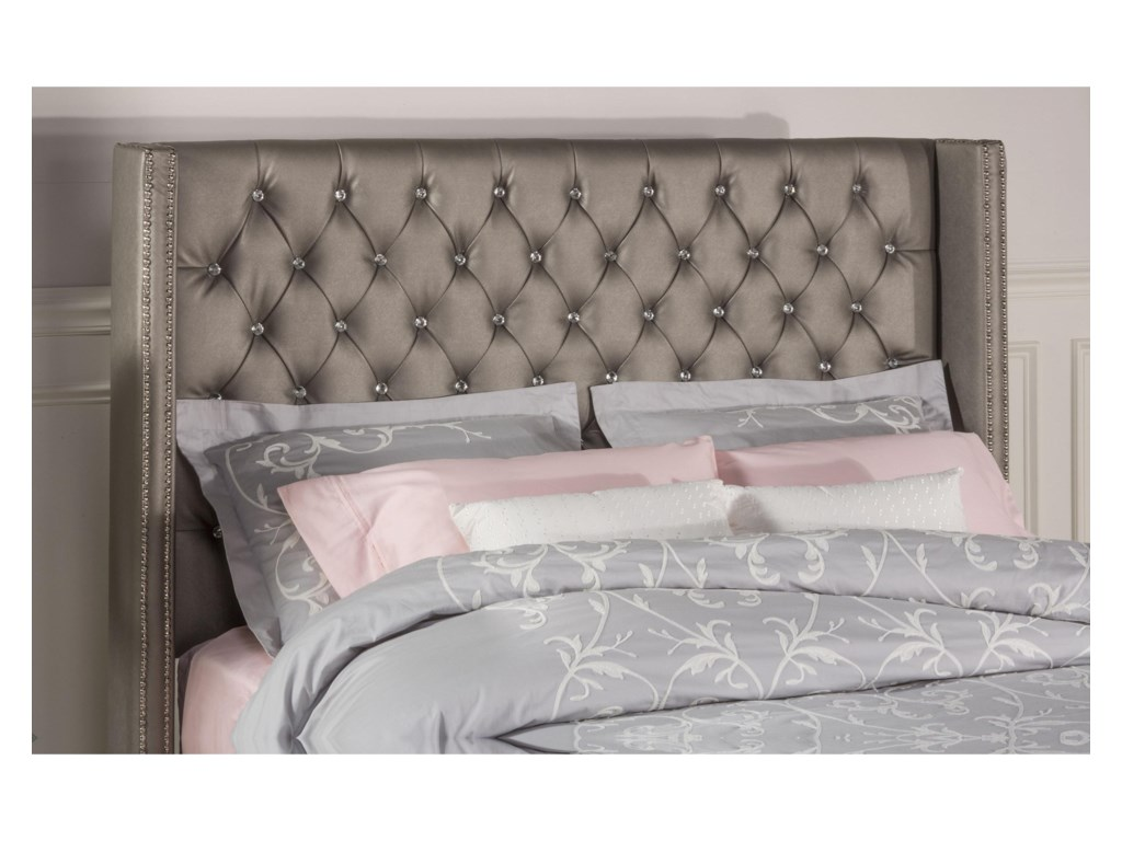 Hillsdale Upholstered BedsQueen Bed Set with Rails