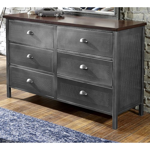 Hillsdale Urban Quarters Contemporary Metal Dresser Godby Home Furnishings Dressers