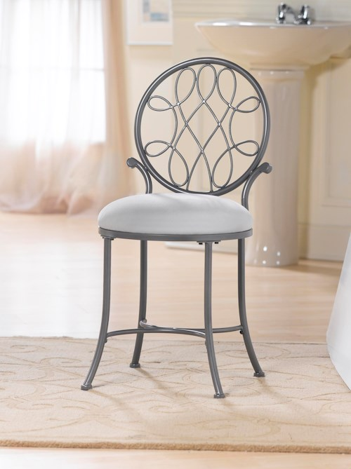 Hillsdale Vanity Stools O'Malley Vanity Stool with a Knot Design