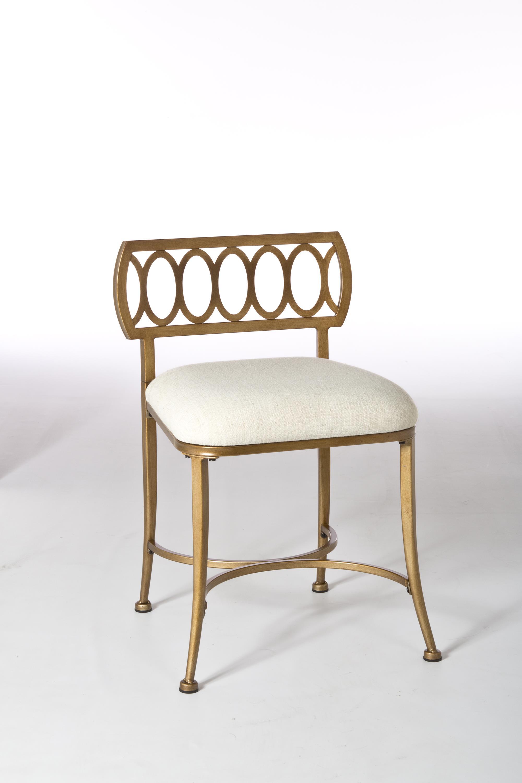 Hillsdale Vanity Stools Canal Street Vanity Stool With Oval Motif Wayside Furniture Vanity Stools Vanity Chairs