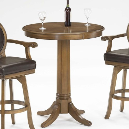 Hillsdale Warrington Single Pedestal Pub Table