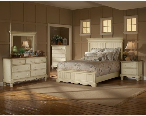 Hillsdale Wilshire King Panel Bedroom Group with Nightstand, Dresser, and Mirror