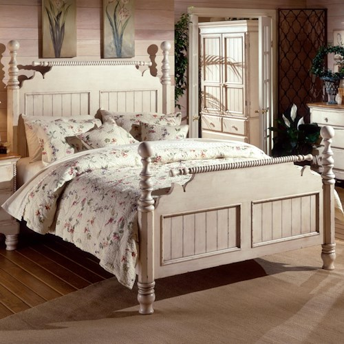 Hillsdale Wilshire King Poster Bed w/ Ball Finials