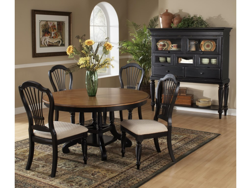 Shown with Craftsman Side Charis and Tall Sideboard Cabinet
