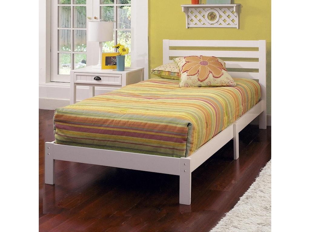 Hillsdale Wood Beds 1723 330 Twin Platform Bed Set Corner