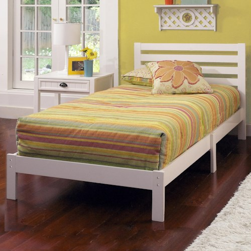 Hillsdale Wood Beds Twin Platform Bed Set