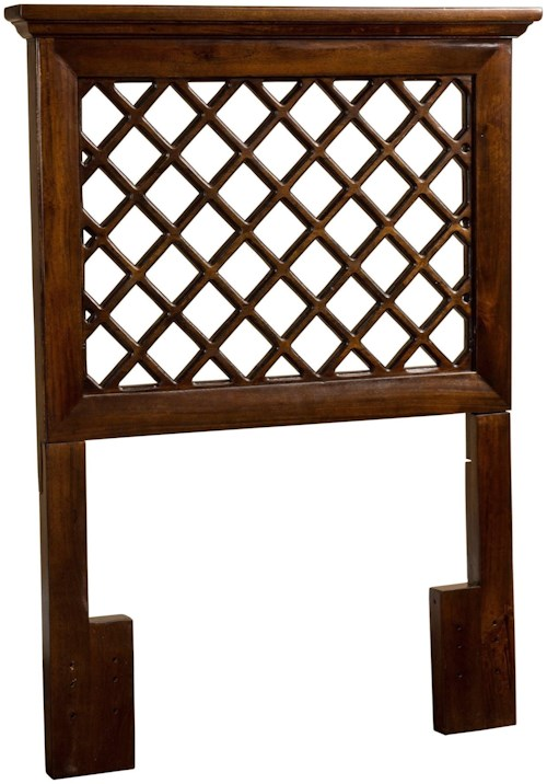 Hillsdale Wood Beds Twin Headboard with Trellis Design