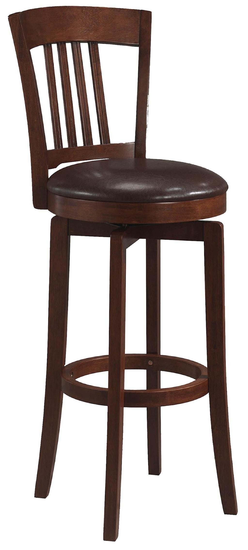 Wood Stools 30 Bar Height Canton Swivel Stool Rotmans Bar Stools