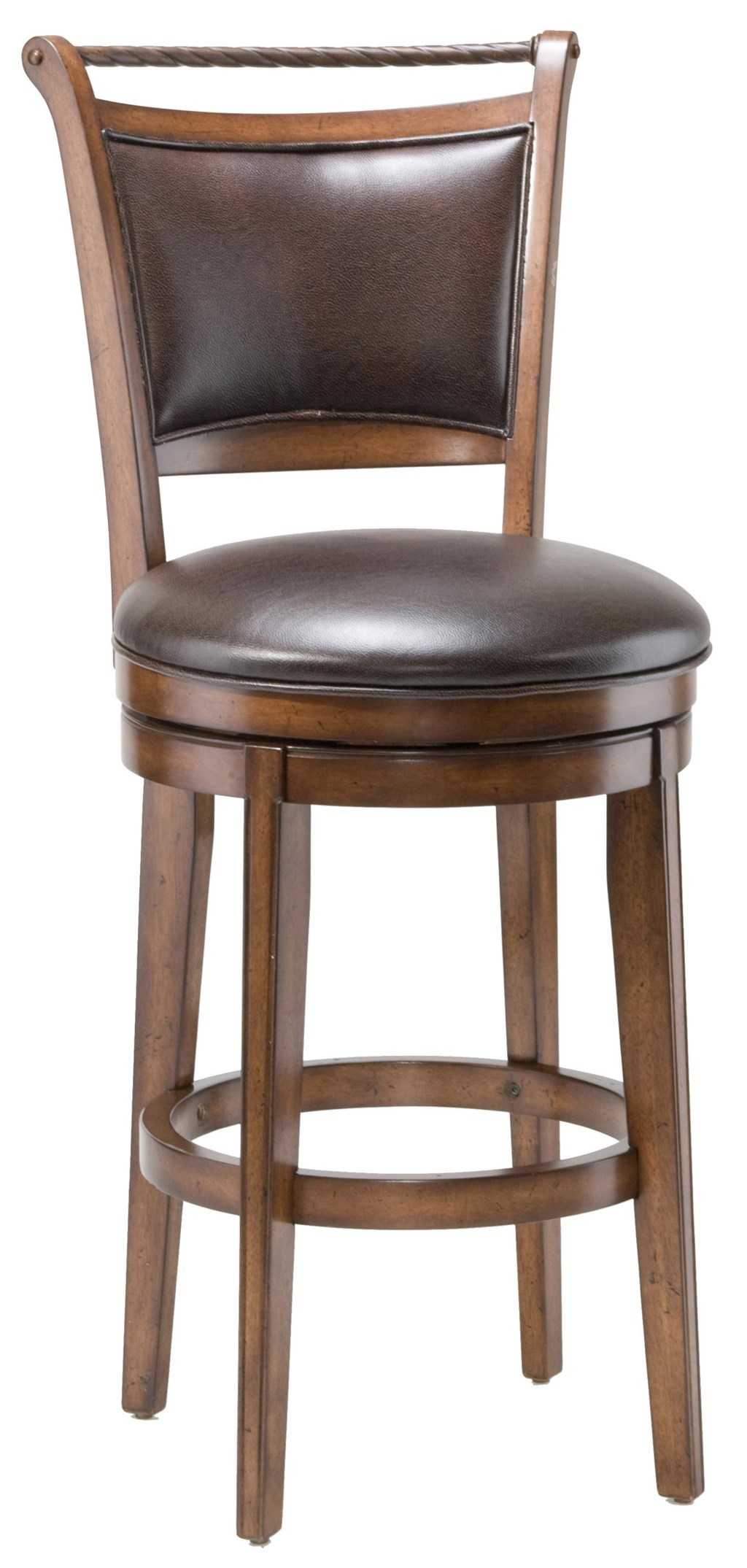 Hillsdale Wood Stools 26 Counter Height Calais Swivel Stool