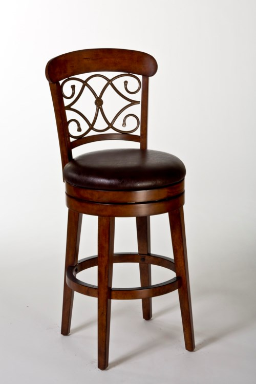 Hillsdale Wood Stools Bergamo Swivel Counter Stool With