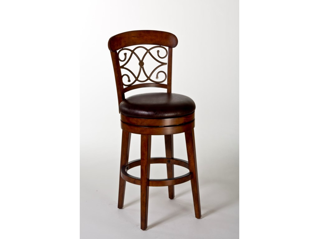 Hillsdale Wood StoolsBergamo Swivel Bar Stool
