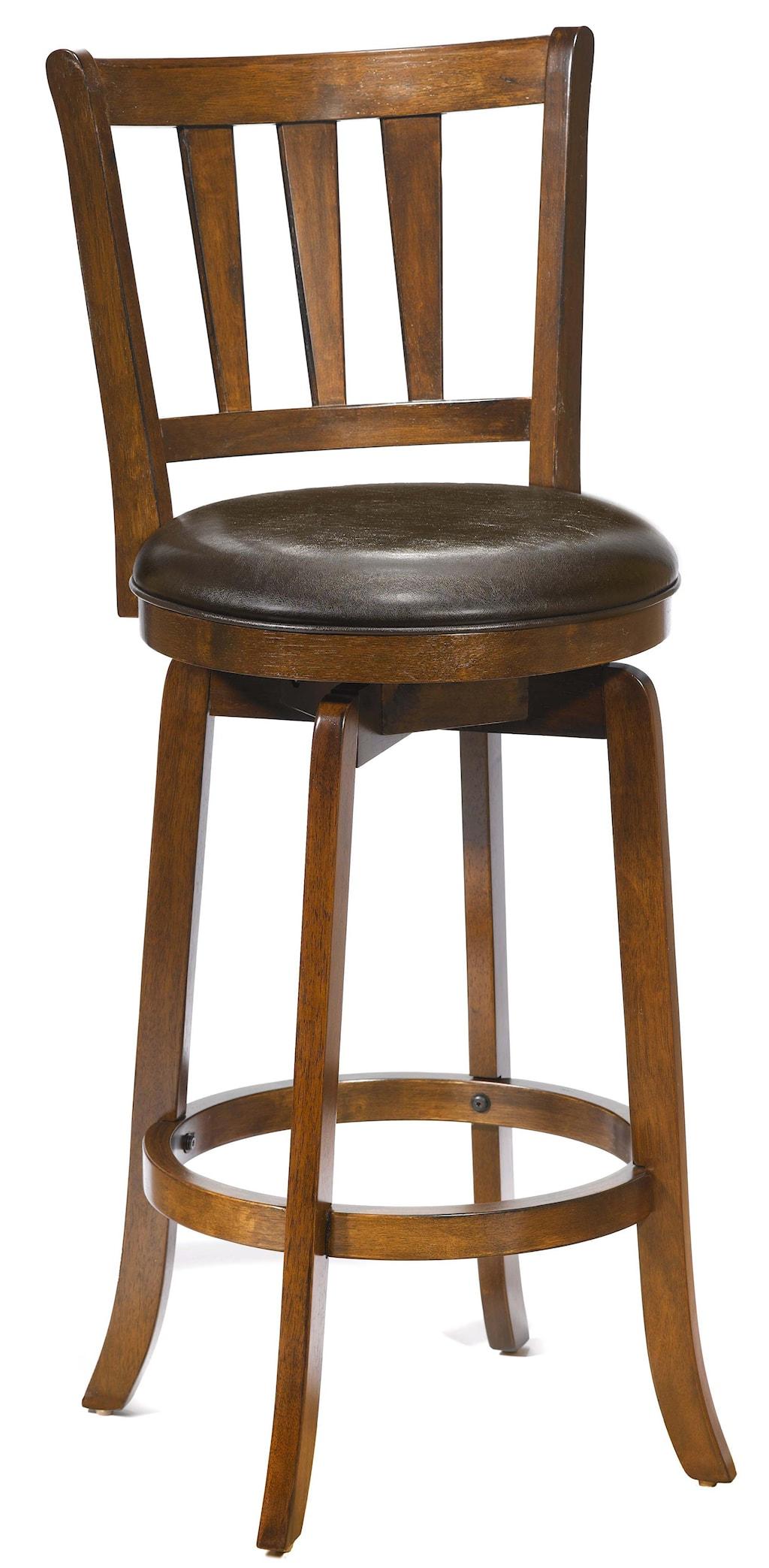 Hillsdale Wood Stools 26 Counter Height Presque Isle Swivel Bar