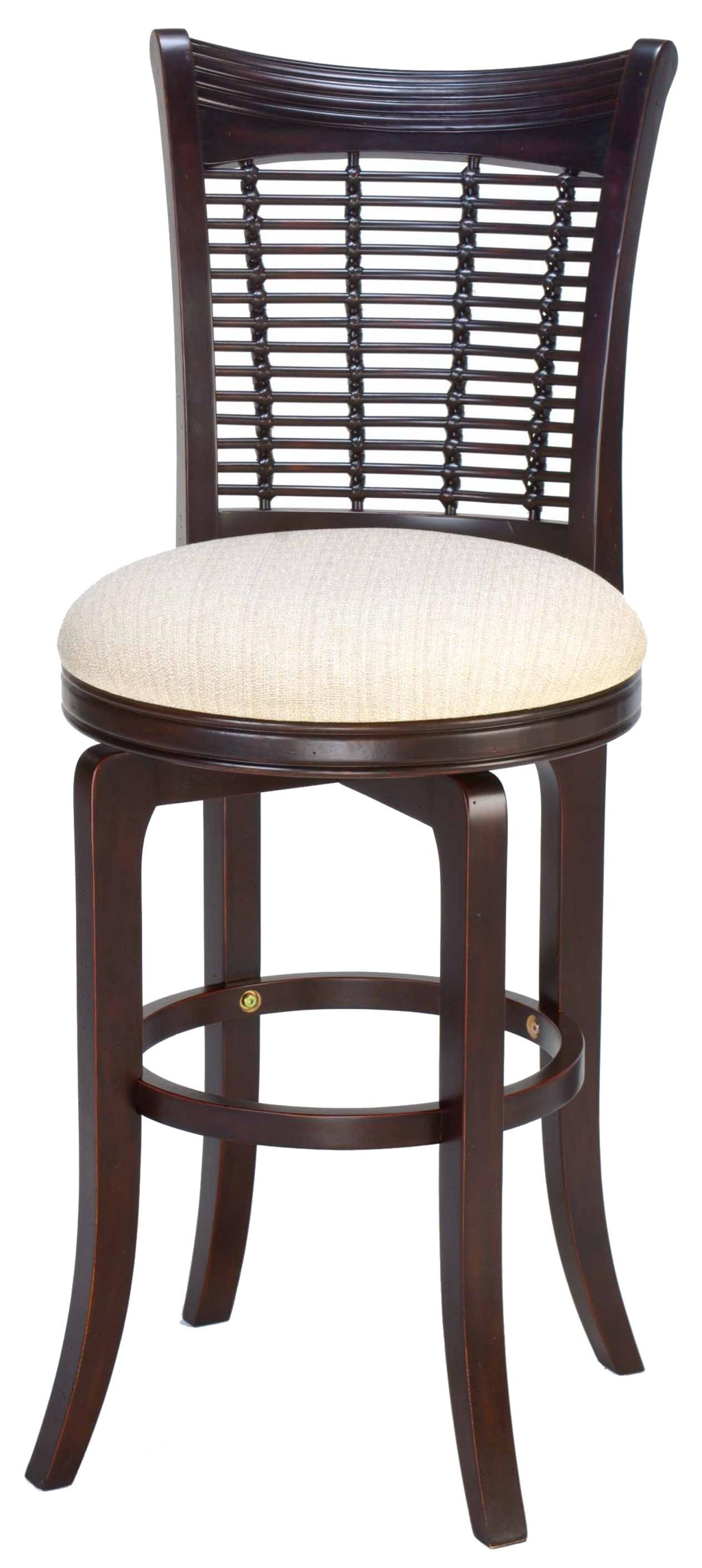 Hillsdale Wood Stools 24 Counter Height Bayberry Wicker Swivel
