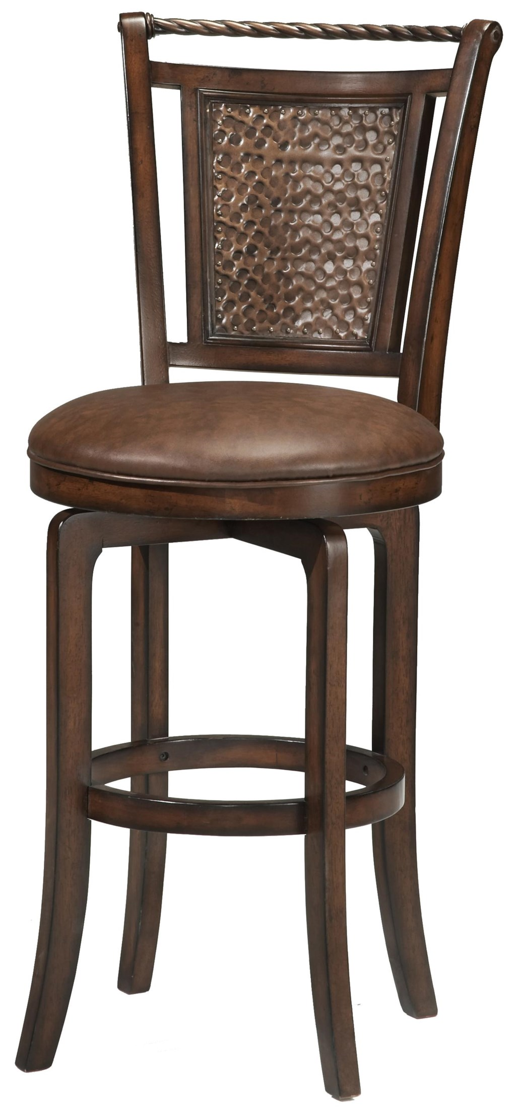 Morris Home Wood Stools Counter Height Norwood Swivel Stool