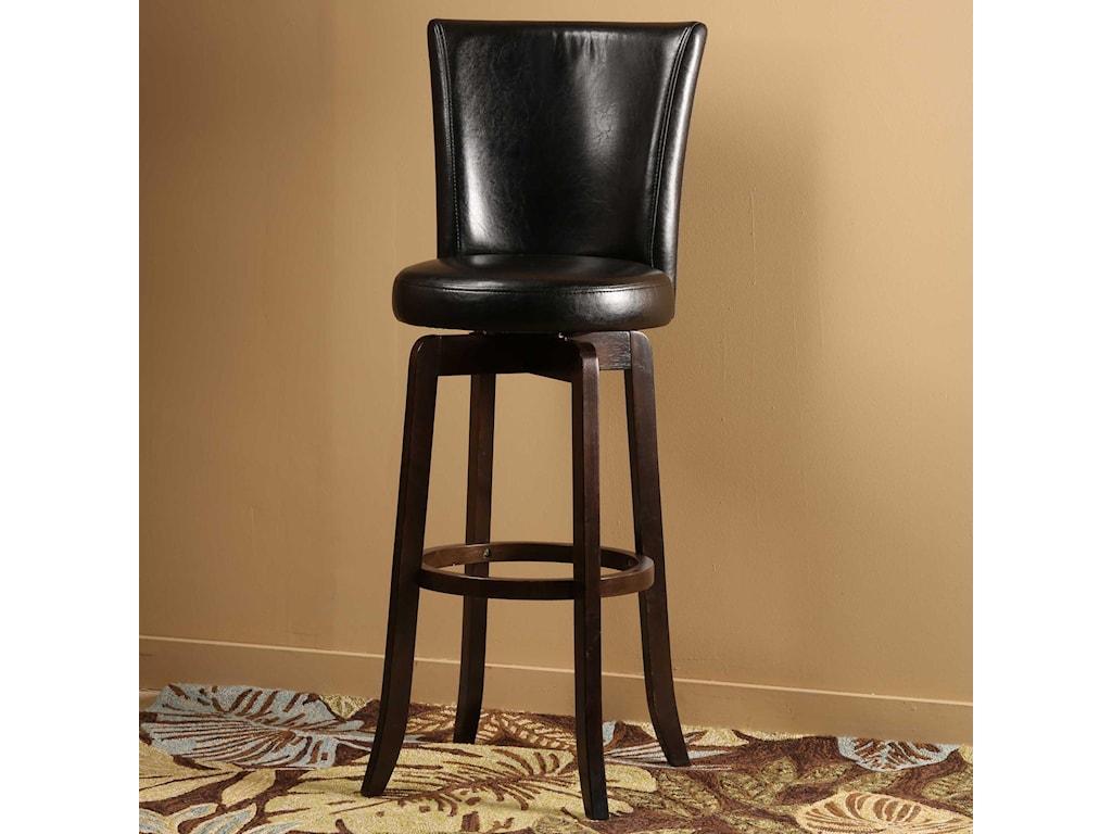 Hillsdale wood stools copenhagen swivel bar stool