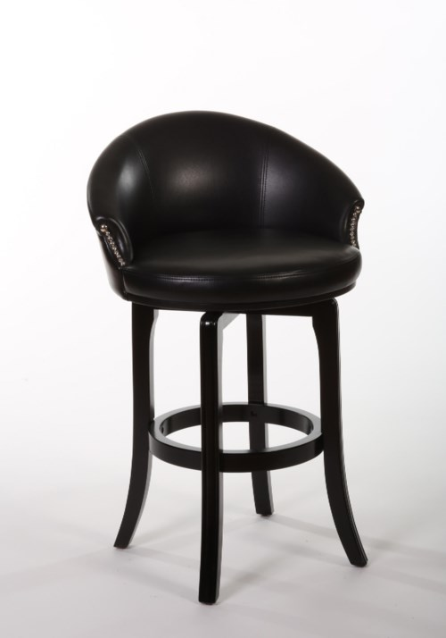Hillsdale Wood Stools Dartford Swivel Counter Stool With