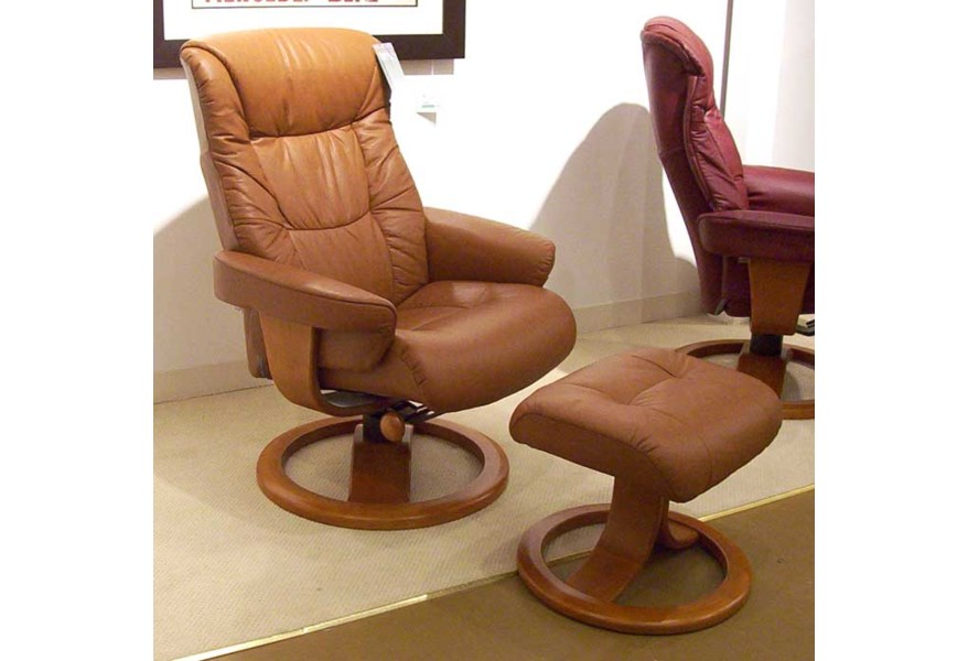 Excellent Hjellegjerde Scansit Reclining Chair Ottoman Wilsons Ocoug Best Dining Table And Chair Ideas Images Ocougorg