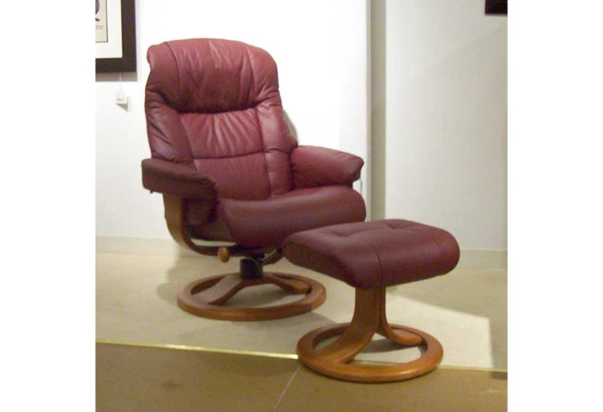 Enjoyable Hjellegjerde Scansit Reclining Chair Ottoman Wilsons Ocoug Best Dining Table And Chair Ideas Images Ocougorg