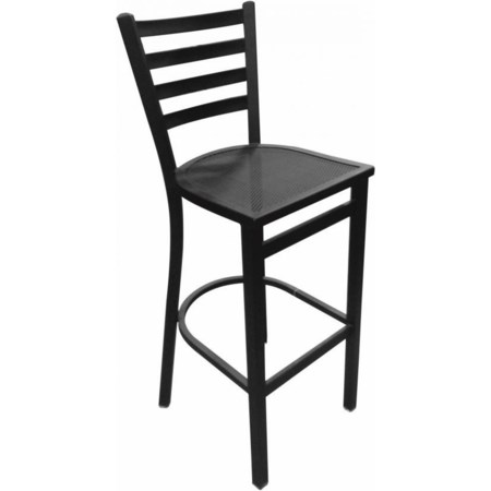 "Black 24"" Outdoor Stool Mesh Seat"